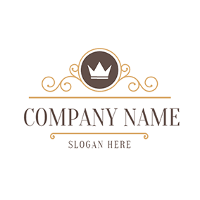 Beauty Mirror and White Crown logo design