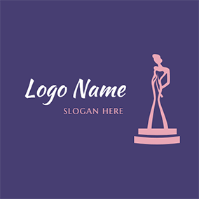 Beauty Shaped Trophy logo design