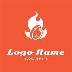 Beef and Fire logo design