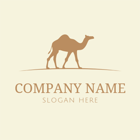 Beige and Brown Camel logo design