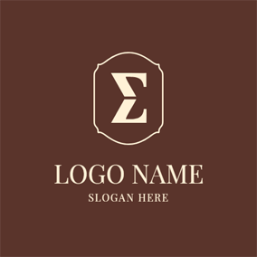 Beige Frame and Sigma logo design