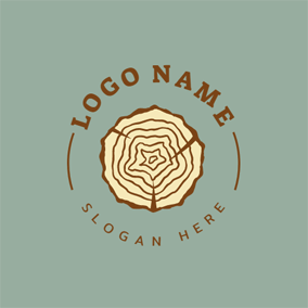 Beige Wood Trunk logo design