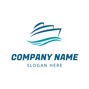 Big Blue Steamship logo design