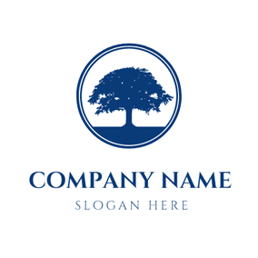 Big Dark Blue Tree logo design