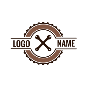 Big Gear and Crossed Spanner logo design