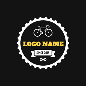 Big Gear and Small Bicycle logo design