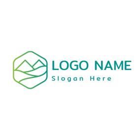 Big Green Mountain logo design