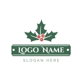 Big Leaf and Brown Fruit logo design