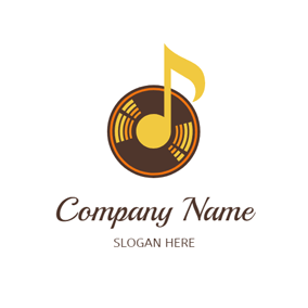 Big Note and Colorful CD logo design