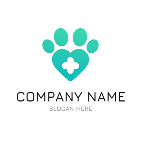 Big Paw Print and Cross logo design