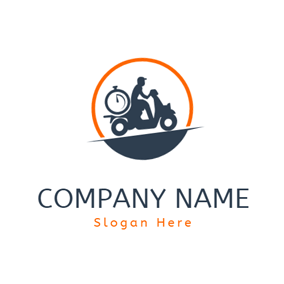 Biker and Scooter Icon logo design