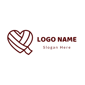 Bind Up Heart Bandage Healing logo design