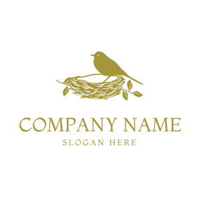 Bird and Bird Nest logo design
