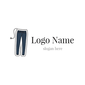 Black and Blue Pants logo design