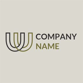Black and Brown Letter W logo design