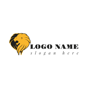 Black and Brown Roaring Lion logo design