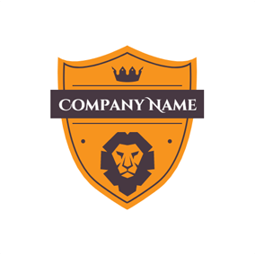 Black and Brown Strict Lion logo design