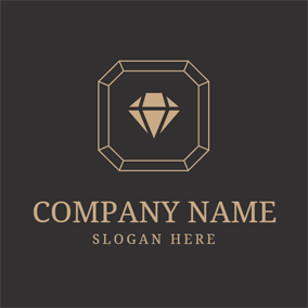 Black and Golden Diamond logo design