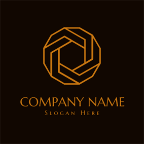 Black and Golden Ring logo design
