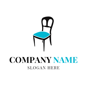 Black and Green Chair logo design