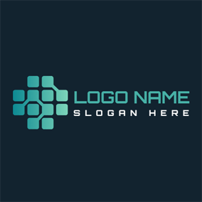 Black and Green Framework logo design