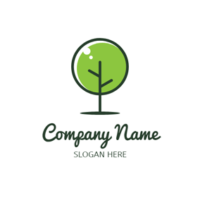 Black and Green Tree logo design