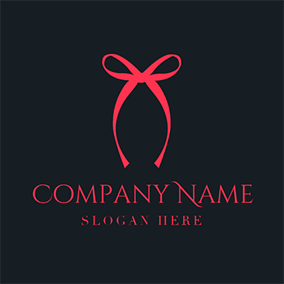 Black and Red Silk Ribbon logo design