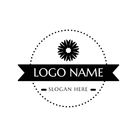 Black and White Carnation Icon logo design