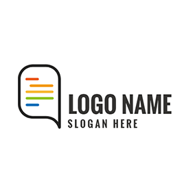 Black and White Dialog Box logo design