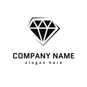 Black and White Diamond logo design