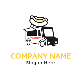Black and White Dining Car logo design
