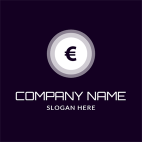 Black and White Euro logo design