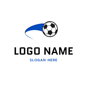 Black and White Football Icon logo design