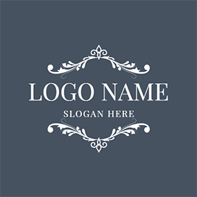 Black and White Frame Icon logo design