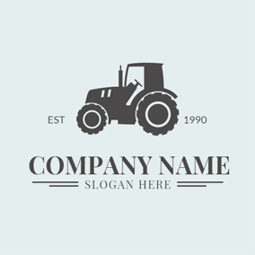 Black and White Harvester logo design