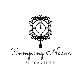 Black and White Horologe logo design