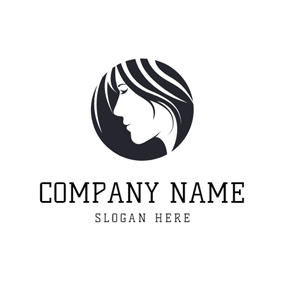 Black and White Lady and Bingle logo design