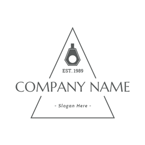 Black and White Perfume Bottle logo design