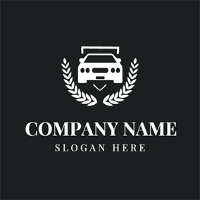 Black and White Small Car logo design