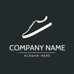 Black and White Sneaker Shoe logo design