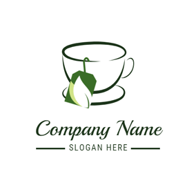 Black and White Tea Cup logo design