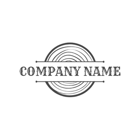 Black and White Texture Wood logo design