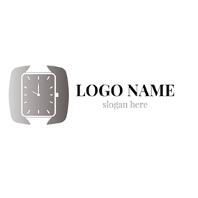 Black and White Wrist Watch logo design