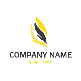 Black and Yellow Gas Icon logo design