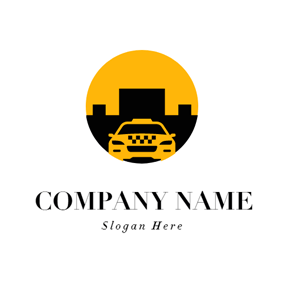 Black Architecture and Yellow Taxi logo design