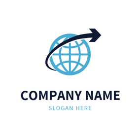 Black Arrow and Blue Earth logo design