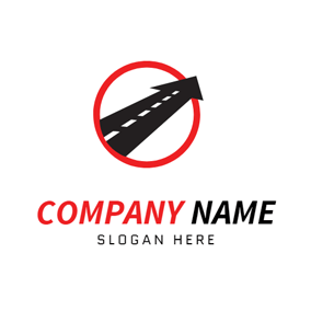 Black Arrow and Road logo design