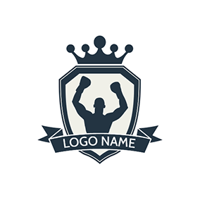Black Badge and Boxer logo design