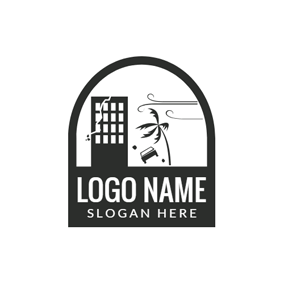 Black Badge and Door logo design