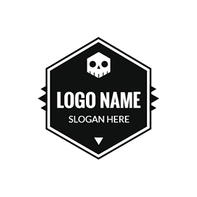 Black Badge and Skull Punk logo design
